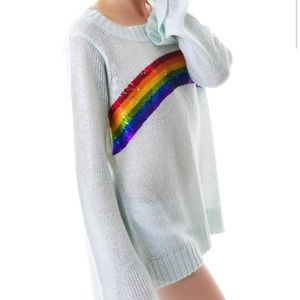 SOLDOUT Couture Antique Sequin Rainbow Sweater